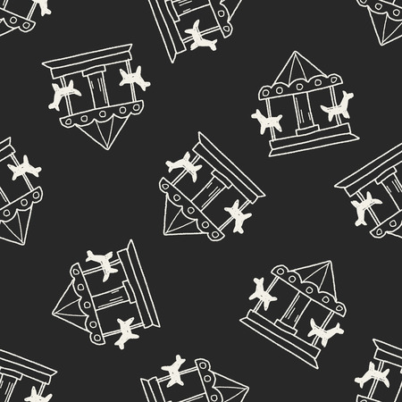 fair play: Merry to go doodle seamless pattern background