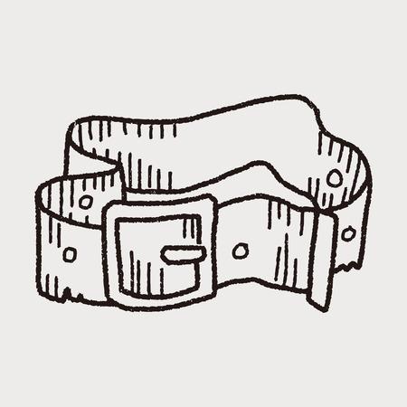 leather pants: pant belt  doodle Illustration