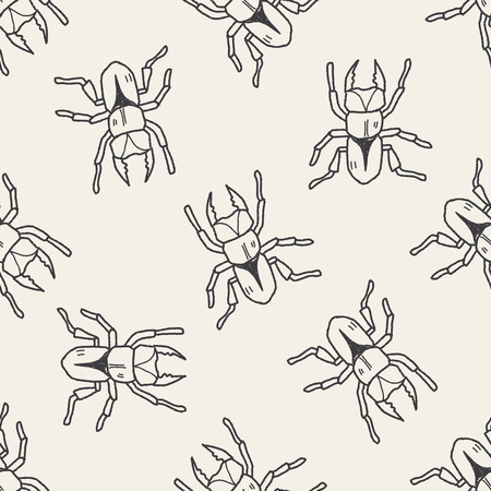 beetle: beetle doodle seamless pattern background