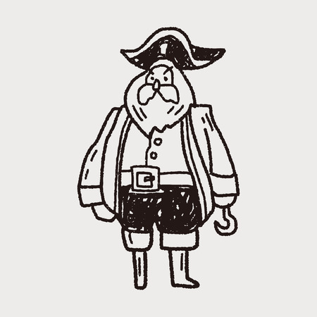 pirate captain: pirate captain doodle