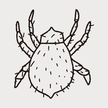 louse: mite doodle