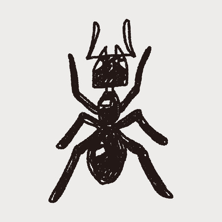 insect ant: ant doodle Illustration