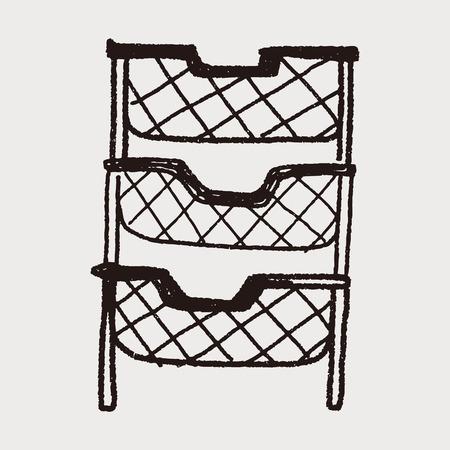 case binder: file case doodle Illustration