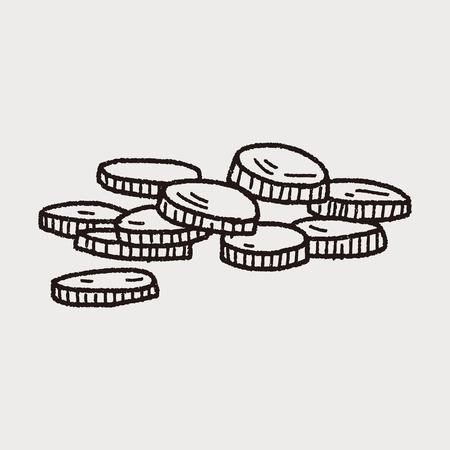 golden coins: gold coin doodle
