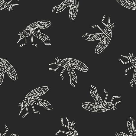 infectious disease: doodle de mosquitos fondo sin patr�n