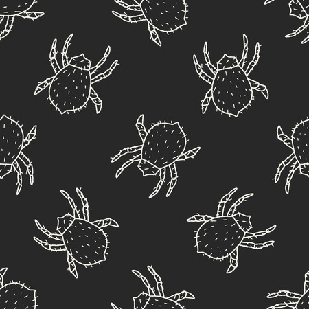 mite: mite doodle seamless pattern background Illustration