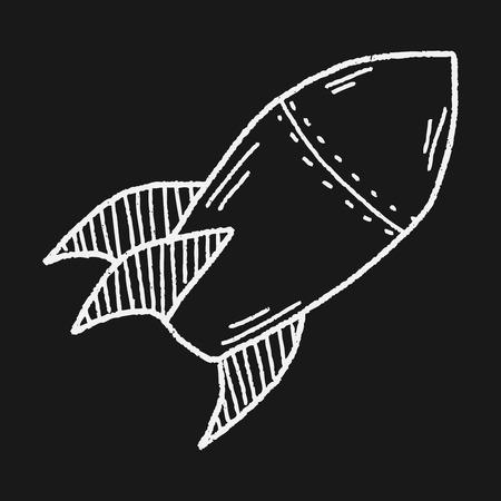 ballistic missile: Missile doodle