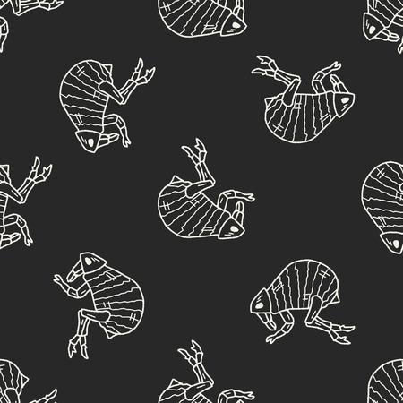 flea: Doodle del Pulga fondo sin fisuras patr�n