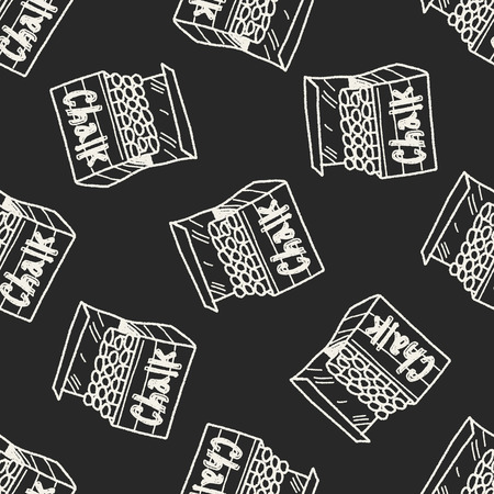 chalk doodle seamless pattern background Vector