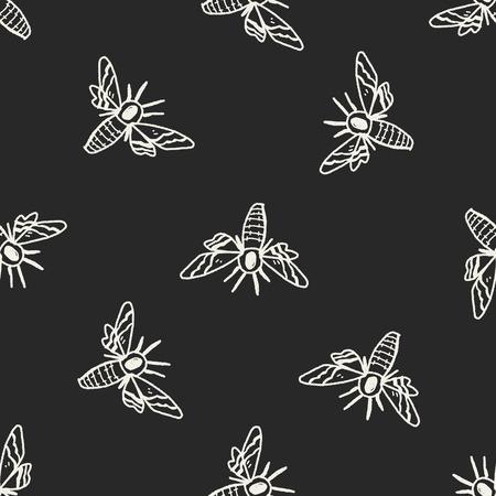 moth: Moth doodle seamless pattern background Illustration