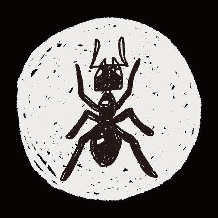 hormiga: doodle de hormiga
