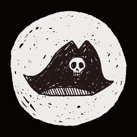 pirate hat doodle Vector