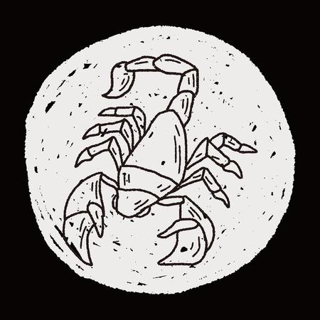Scorpion doodle Vector