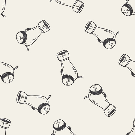 cannon ball: cannon doodle seamless pattern background