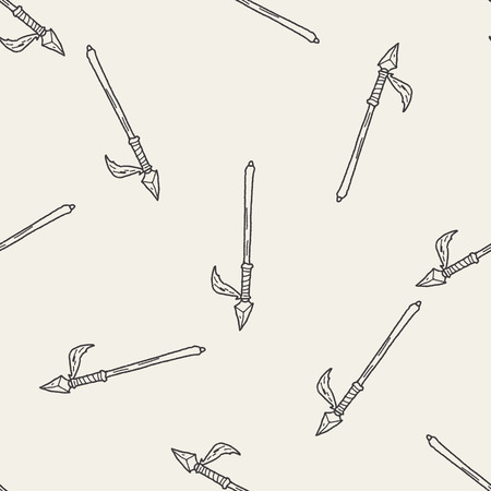 spear: spear doodle seamless pattern background