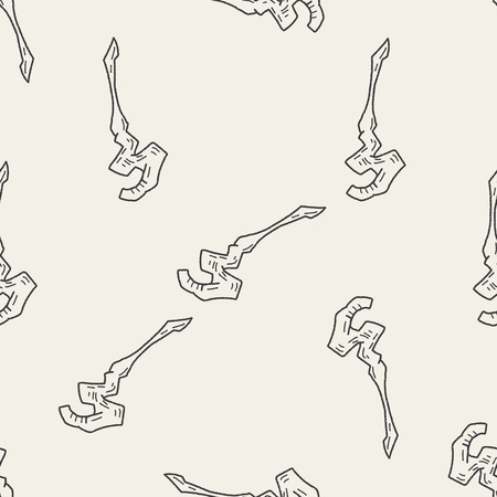 magic wand doodle seamless pattern background Vector