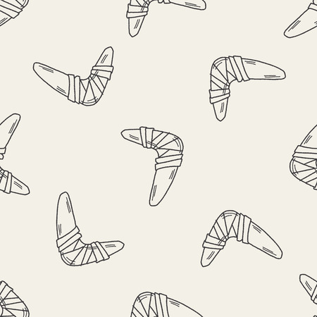 Boomerang doodle seamless pattern background Vector