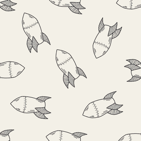 missile: Missile doodle seamless pattern background