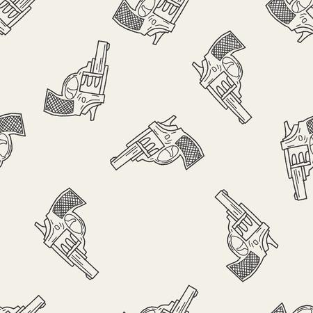pistola: doodle de arma patr�n de fondo sin fisuras