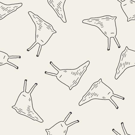 nacktschnecke: slug doodle nahtlose Muster Hintergrund