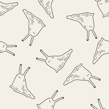slug: slug doodle seamless pattern background