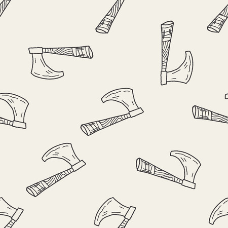 ax: Ax doodle seamless pattern background