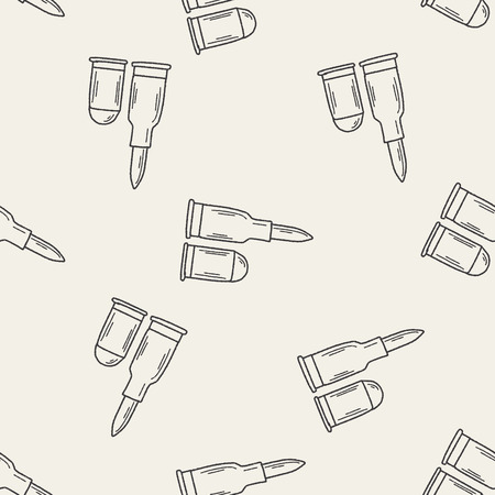 Bullet doodle seamless pattern background Vector