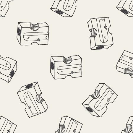 sharpen: Doodle Pencil sharpeners seamless pattern background