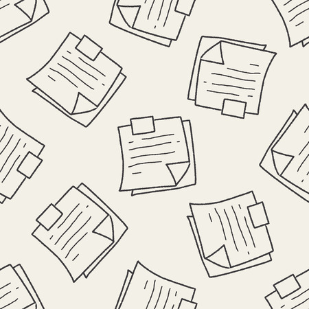 memo: Memo doodle seamless pattern background