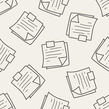 memo pad: Memo doodle seamless pattern background