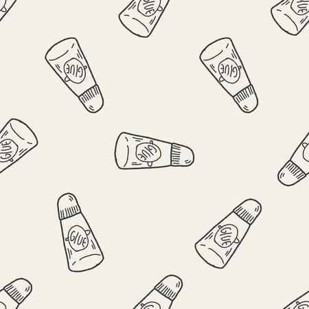 glue: glue doodle seamless pattern background