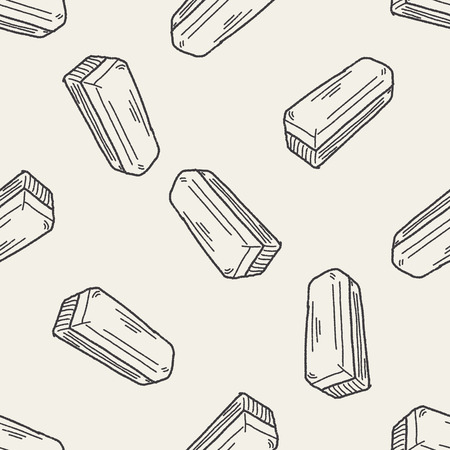 dry erase: whiteboard eraser doodle seamless pattern background