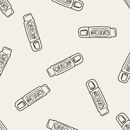 correction: correction pen doodle seamless pattern background