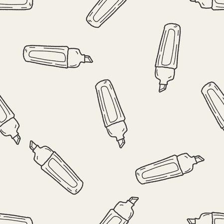 highlighter: highlighter pen doodle seamless pattern background