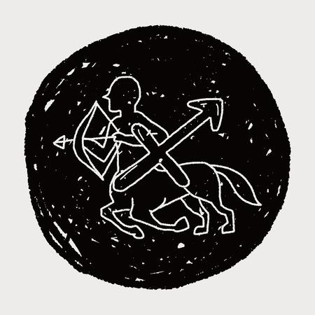the art of divination: sagittariu Constellation doodle