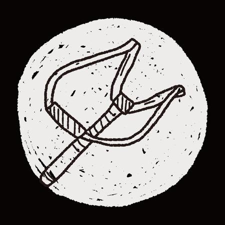 catapult: Slingshot doodle Illustration