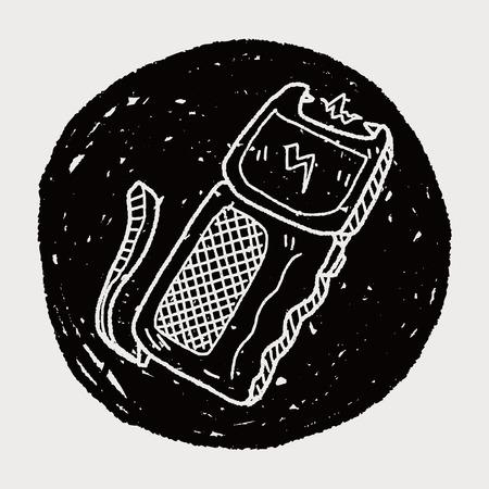 electroshock: stun gun doodle