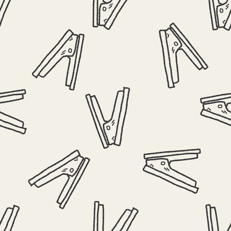 Stapler doodle seamless pattern background
