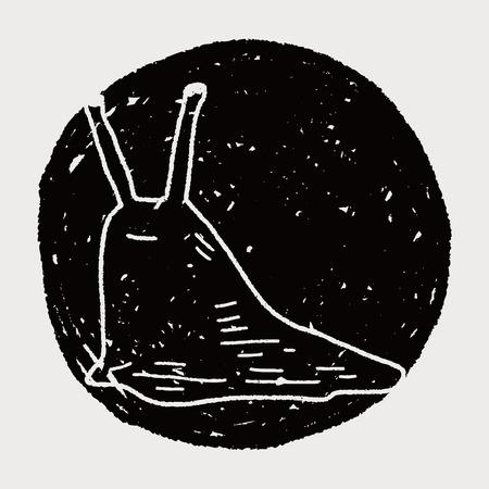 lesma: lesma do doodle Ilustra��o