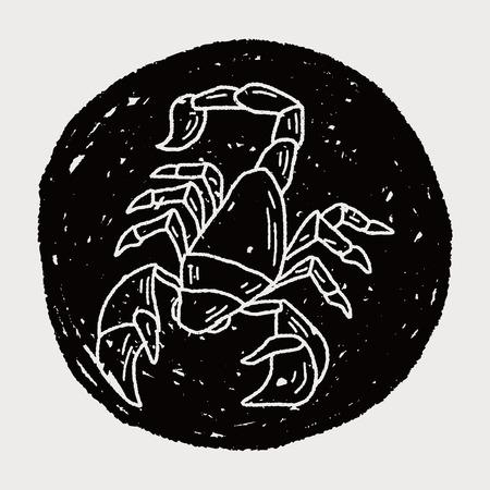 star mascot: Scorpion doodle