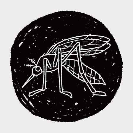 infectious disease: mosquito doodle Illustration