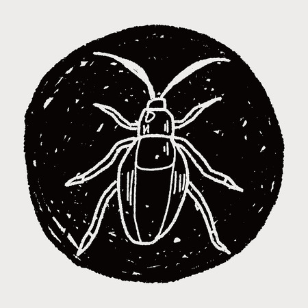 insect doodle Vector