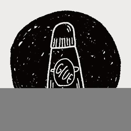 resistol: pegamento del doodle
