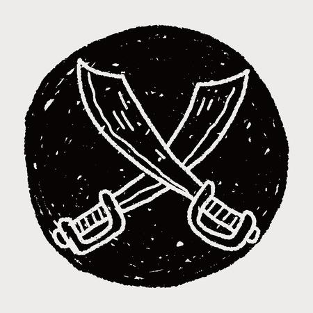 broadsword: knife doodle Illustration