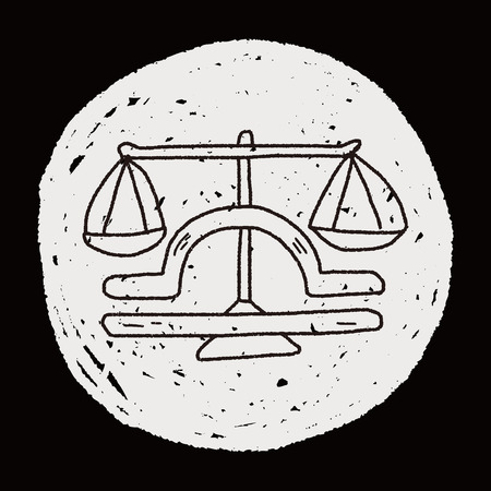 libra: libra Constellation doodle