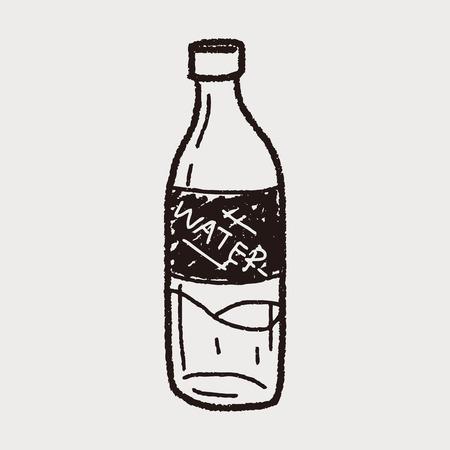 drawn metal: sport water drink doodle
