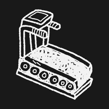 treadmill: treadmill machine doodle