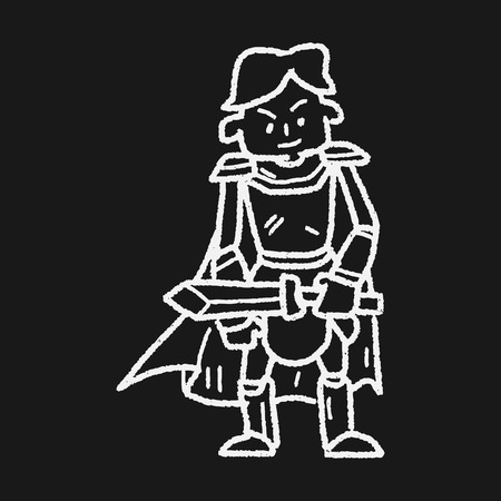 drawn metal: knight doodle