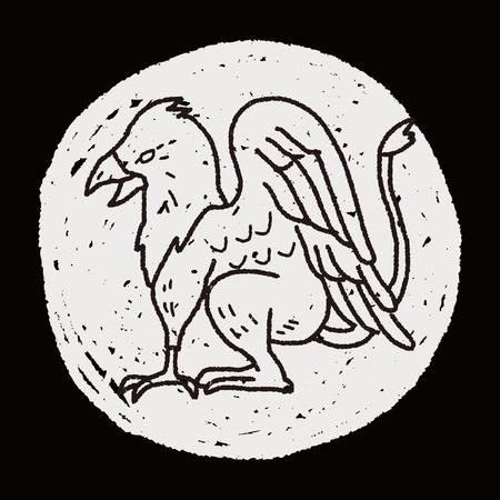 gryphon: griffin doodle