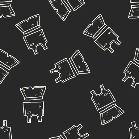 sport clothes: sport clothes doodle seamless pattern background